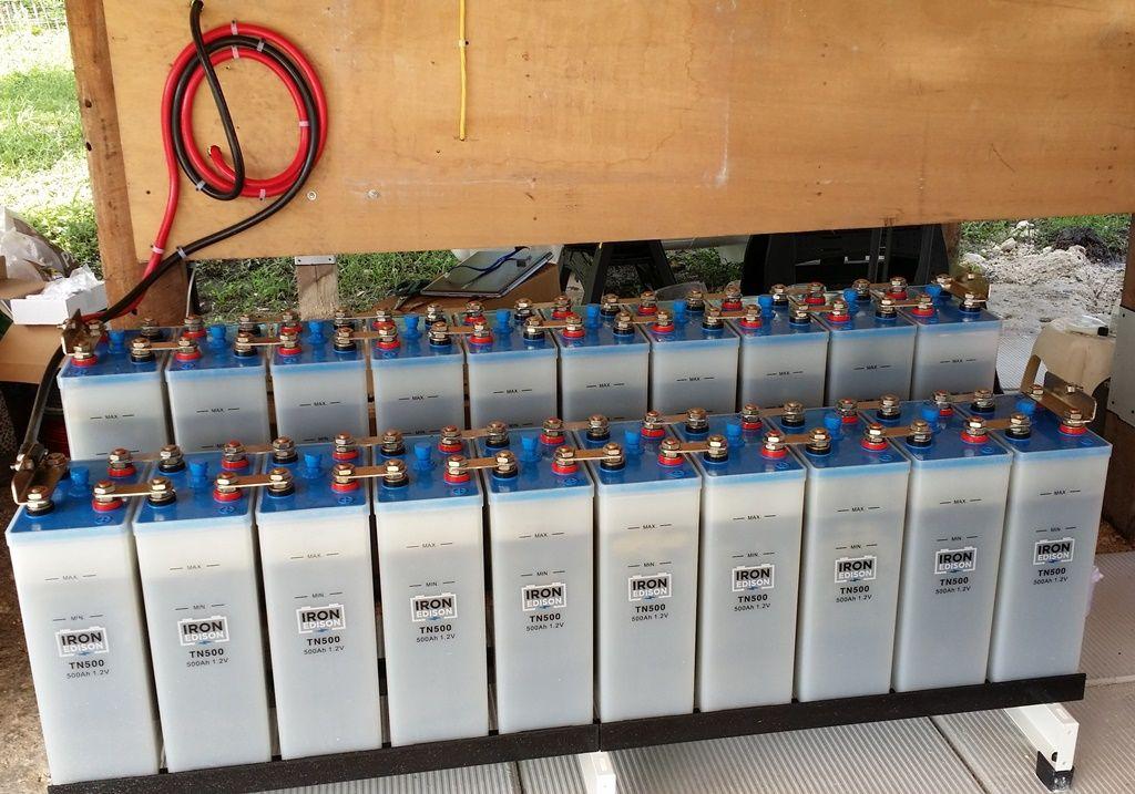 600ah 24v Nickel Iron Battery Solar Power System Solar