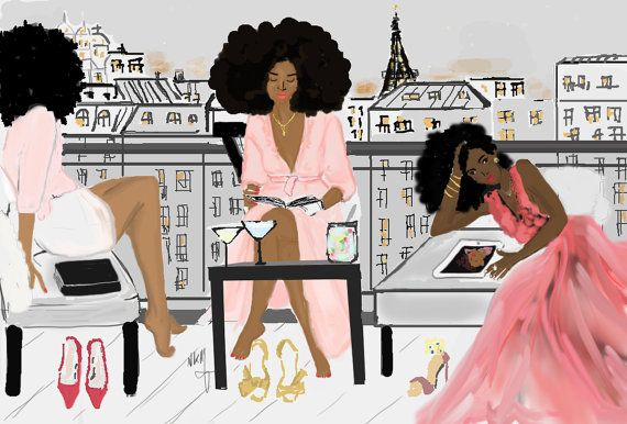7 Questions for Illustrator Niki's Groove: Inspired by people who look like myself | African Prints in Fashion