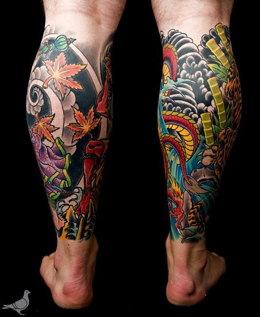 Japanese Leg Sleeve Google Search Tattoos Tatuajes Pierna