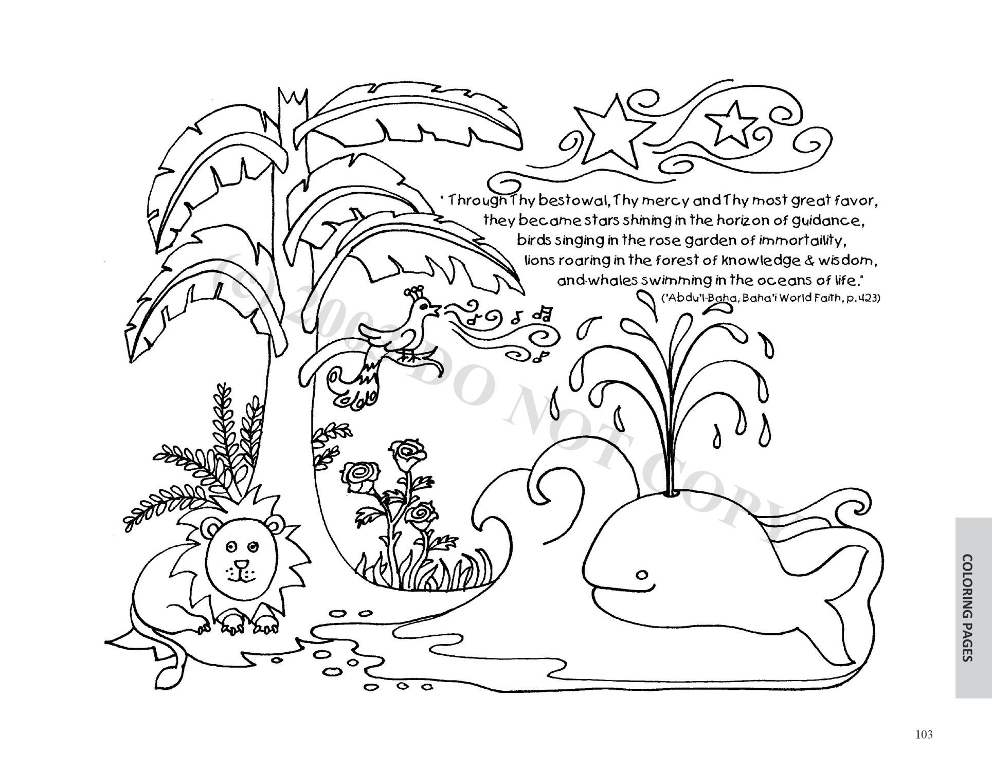 Sample Pages Baha I Crafts For Children Coloring Sheets Found