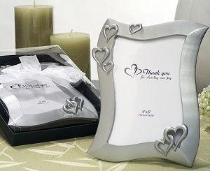 Heart Design 4x6 Silver Color Picture Frame Favors | WEDDING