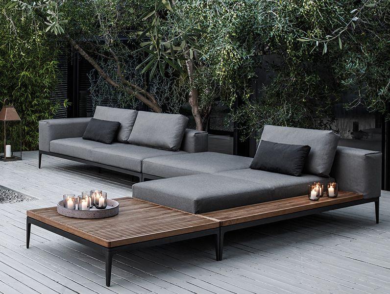 El sofá modular Grid es el elemento central de la colección de ...