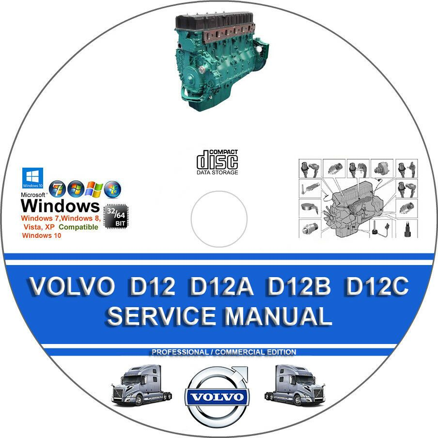 hight resolution of  advertisement ebay volvo truck d12 d12a d12b d12c engine service repair manual on cd