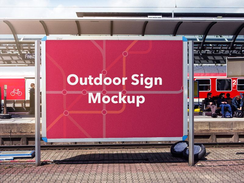 Free Mockup Outdoor Banner Mockuplove Mockup Free Psd Psd Template Free Free Mockup