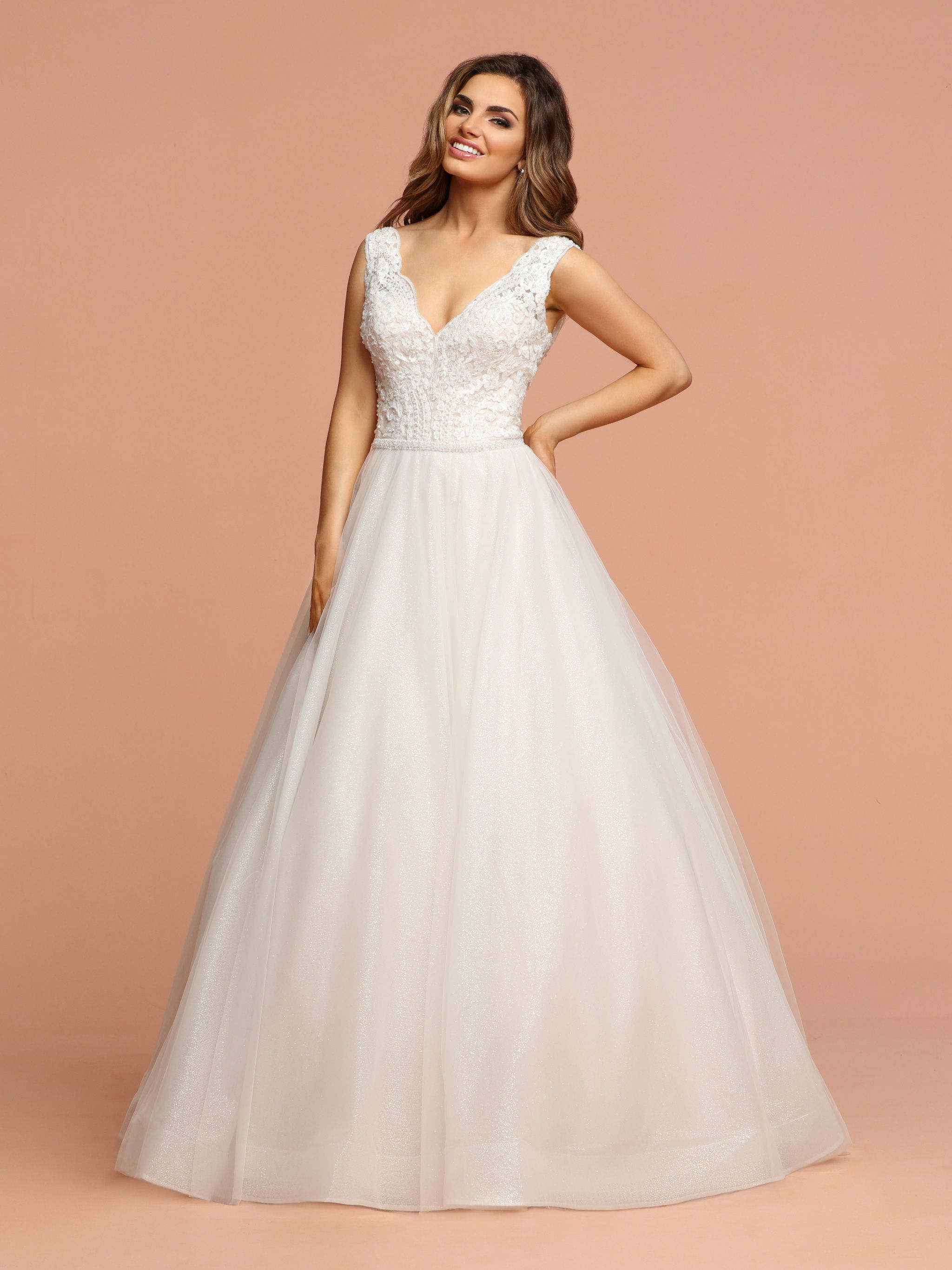 Check out the beautiful glitter skirt on this new gown
