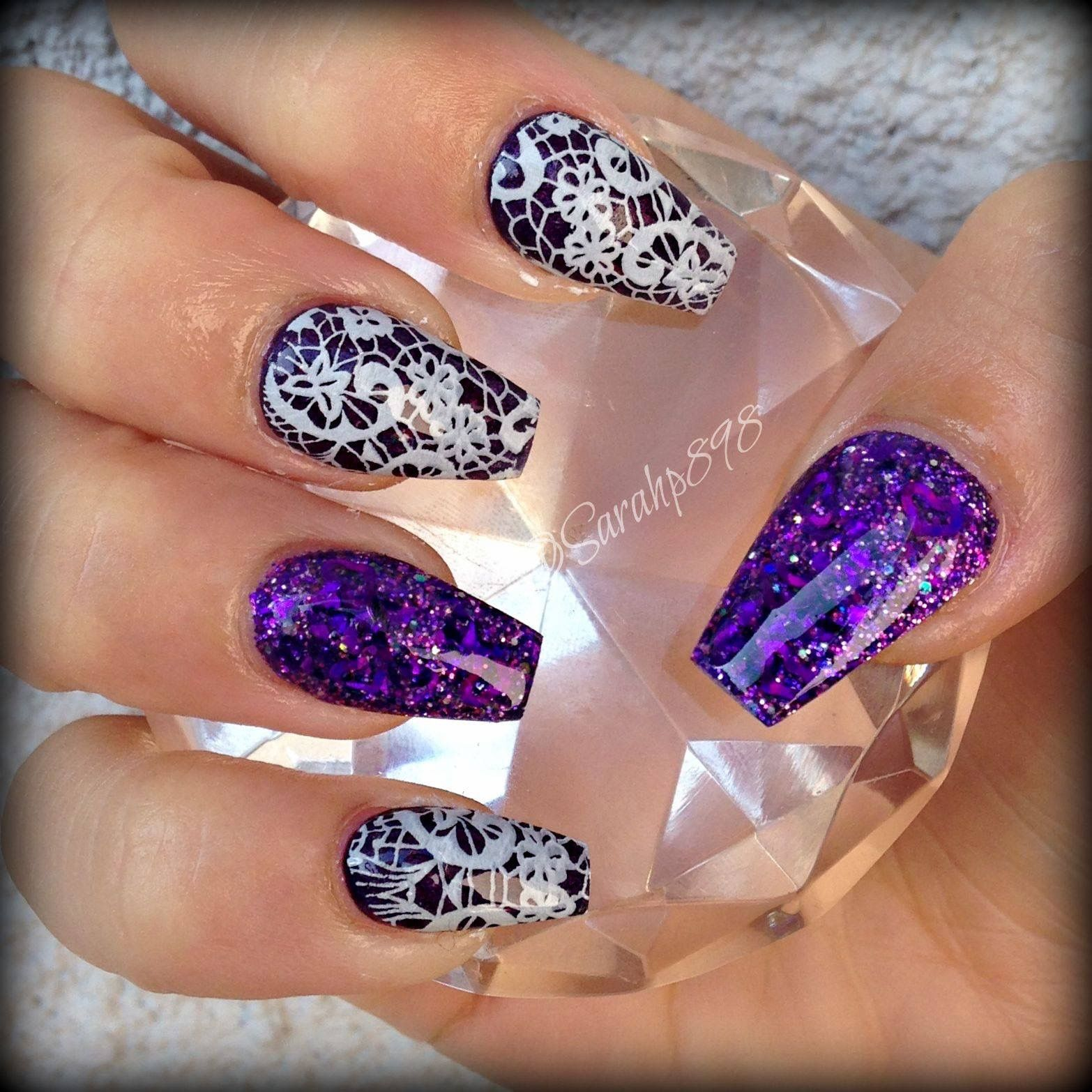 Pin by Manon Ladouceur on NAILS-ONGLE | Pinterest | Purple nail