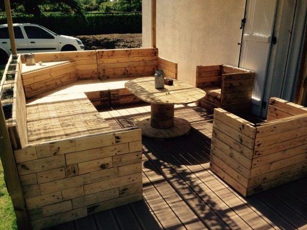 Salon de Jardin / Pallet Garden Set