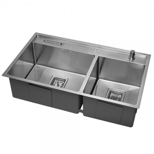 multifunctional stainless steel double bowl kitchen sink SWEDIA | 5 ...