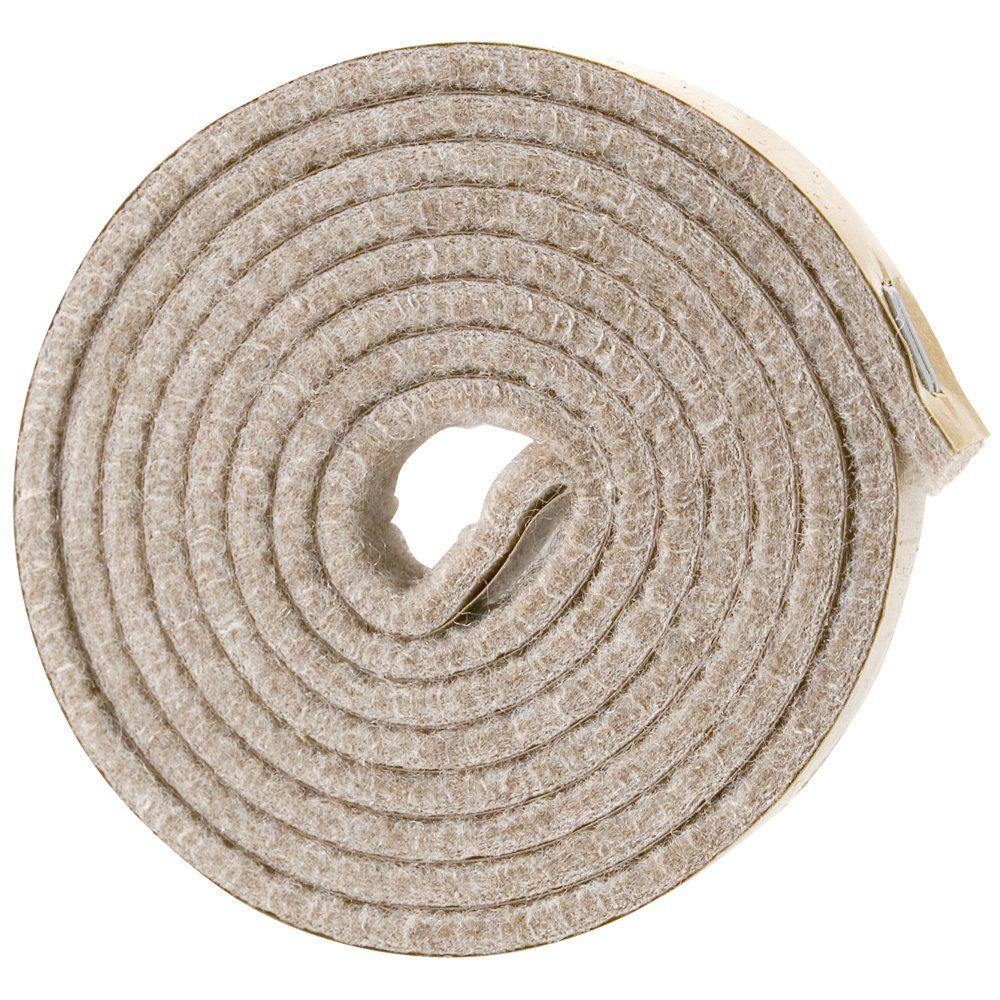 "Shepherd 9818 1//2/"" x 58/"" Self Adhesive Felt Strip Pad Roll"