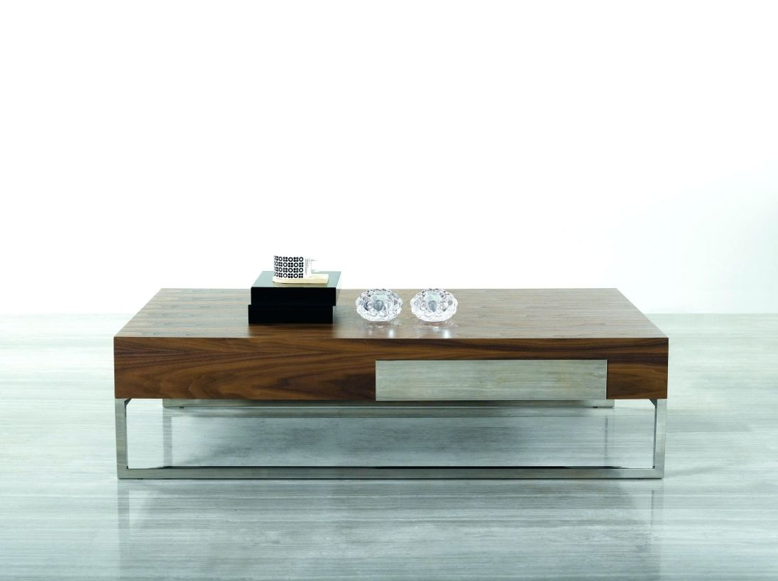 Cambridge Brown Wood Modern Coffee Table With Hidden Storage  # Table Tv Plasma Moderne En Verre