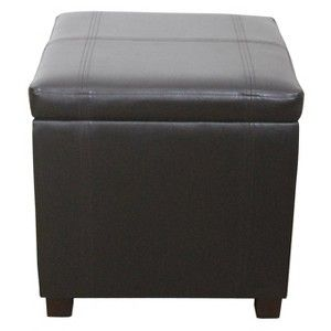 Threshold Single Storage Ottoman Stool With Hinge Top Espresso Storage Ottoman Ottoman Stool Storage Ottoman Bench