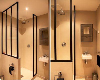 paroi de douche façon verrière Salle de bain Pinterest Small