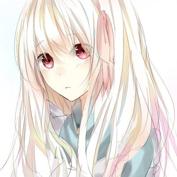 Девушка с серыми волосами арт
