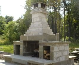 Inc. - outdoor cinder block fire place. | ReUse: Cinder Blocks | Pinterest | Cinder