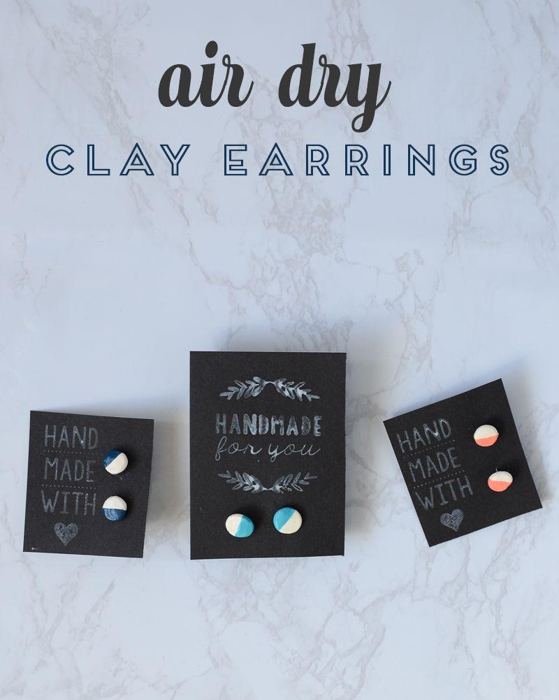 Diy Air Dry Clay Earrings Tutorial Consumer Crafts Clay Crafts Air Dry Diy Air Dry Clay Air Dry Clay