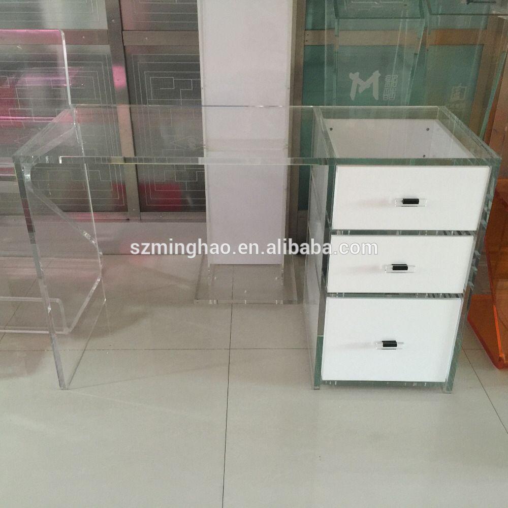 acrylic dressing table  Dressing table, elegant acrylic dressing table with drawer | Acrylic ...
