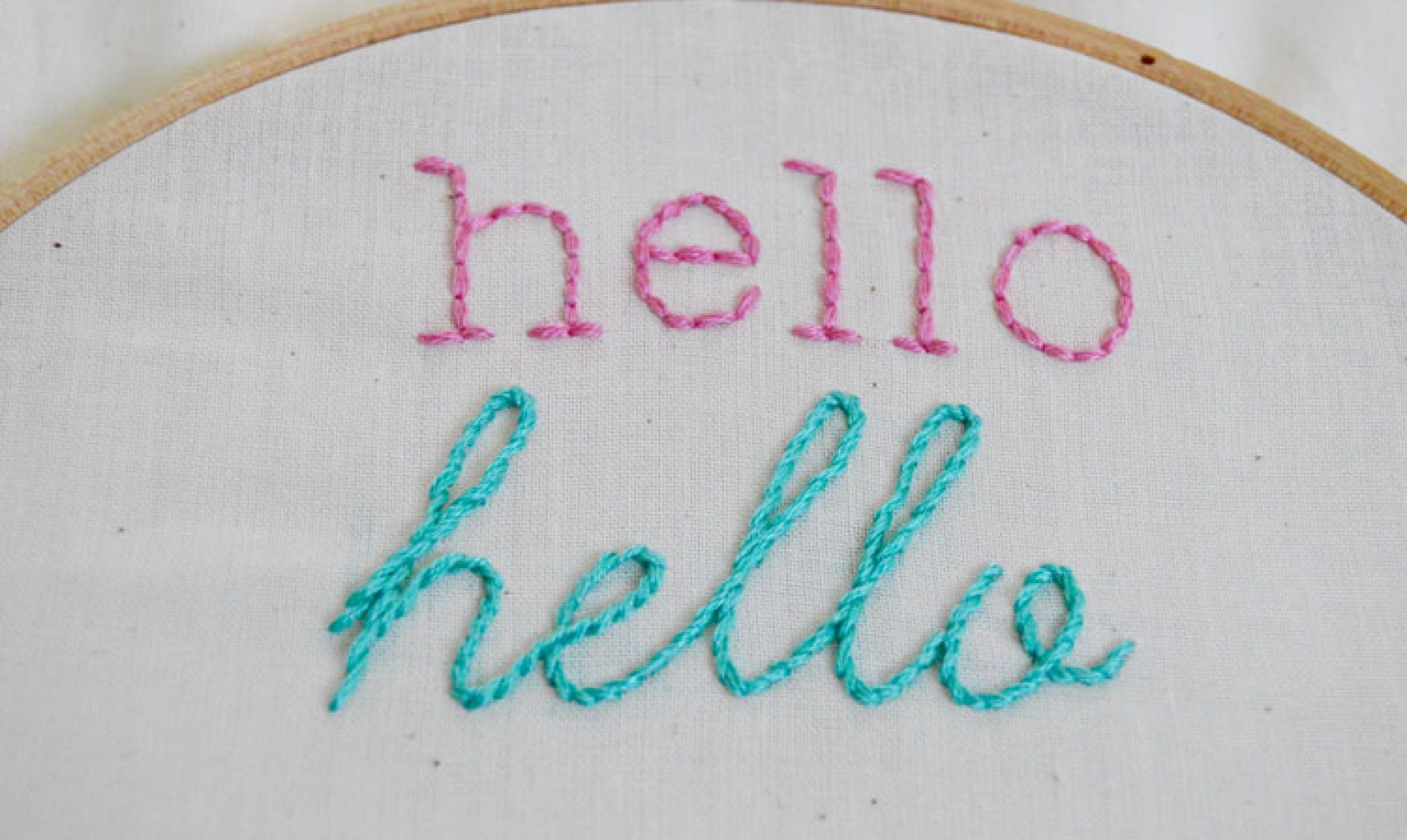 surprisingly easy stitches for perfect embroidered letters