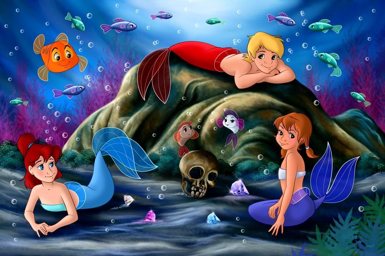 Disney Princesses as Mermaids   Cute Mermaid Princesses ...