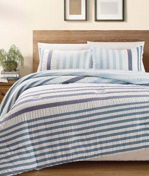 Blue Striped Bedding Sets Beachfront Decor Bed Linens Luxury Bed Comforter Sets Blue Bedding Sets
