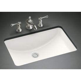Kohler Ladena White Undermount Rectangular Bathroom Sink With Overflow 8 Small Undermount Bathroom Sink Rectangular Sink Bathroom Undermount Bathroom Sink