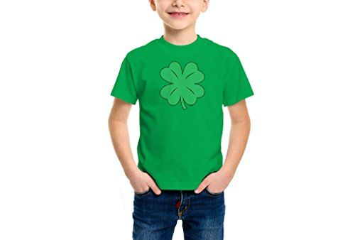 YOUTH Big Boys Green Distressed Shamrock  Clover  St Patricks Day Tshirt XL KELLY GREEN *** Read more reviews of the product by visiting the link on the image.Note:It is affiliate link to Amazon.