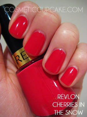 Fave red polish goes to Revlon's 'Cherries in the snow'
