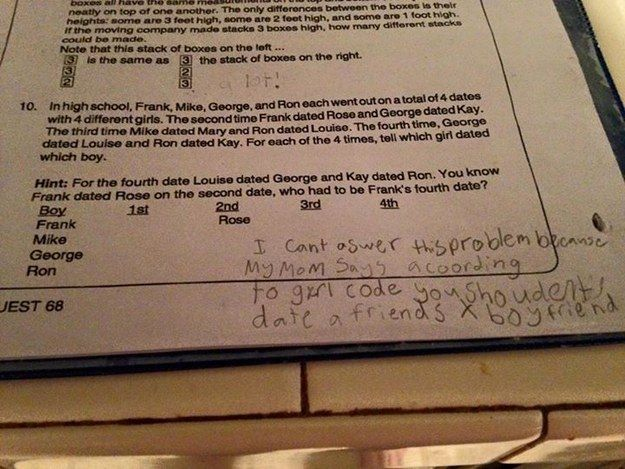 A 9-Year-Old Girl Totally Nailed Her Math Homework With This Sassy Response