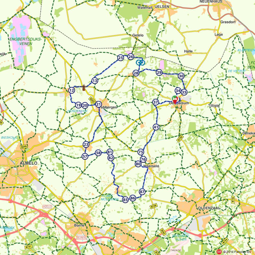 Fietsroute: De mooie natuur en dorpen van noordoost Twente   (http://www.route.nl/fietsroutes/157800/De-mooie-natuur-en-dorpen-van-noordoost-Twente-/)