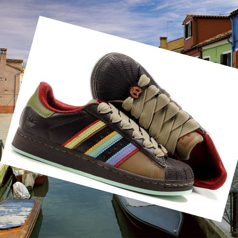 adidas superstar rainbow coffee