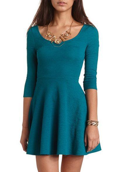 Knit Skater Dress: Charlotte Russe | Dresses ♥ | Pinterest ...