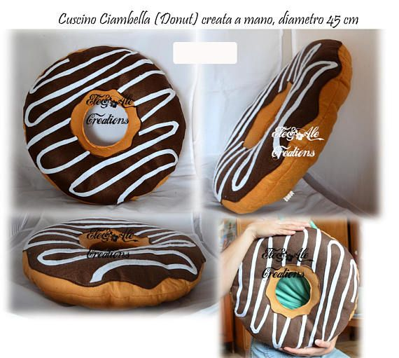 Cuscino A Forma Di Ciambella.Cuscini A Forma Di Ciambella Donut Idee Regalo Ciambella