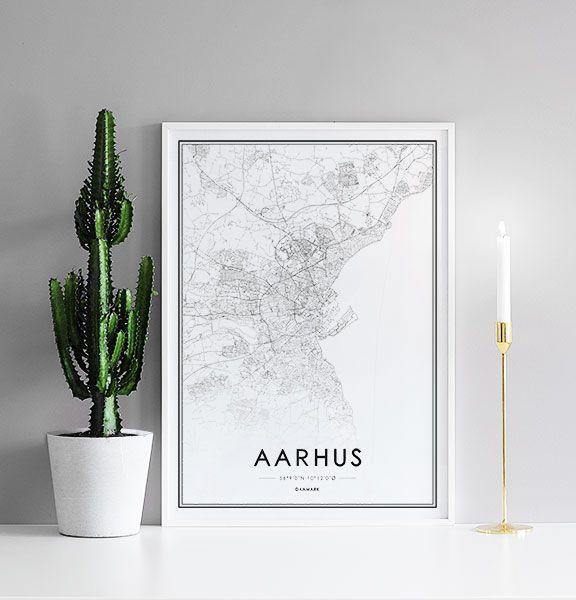 Plakat Med Aarhus Kort Plakater Kort