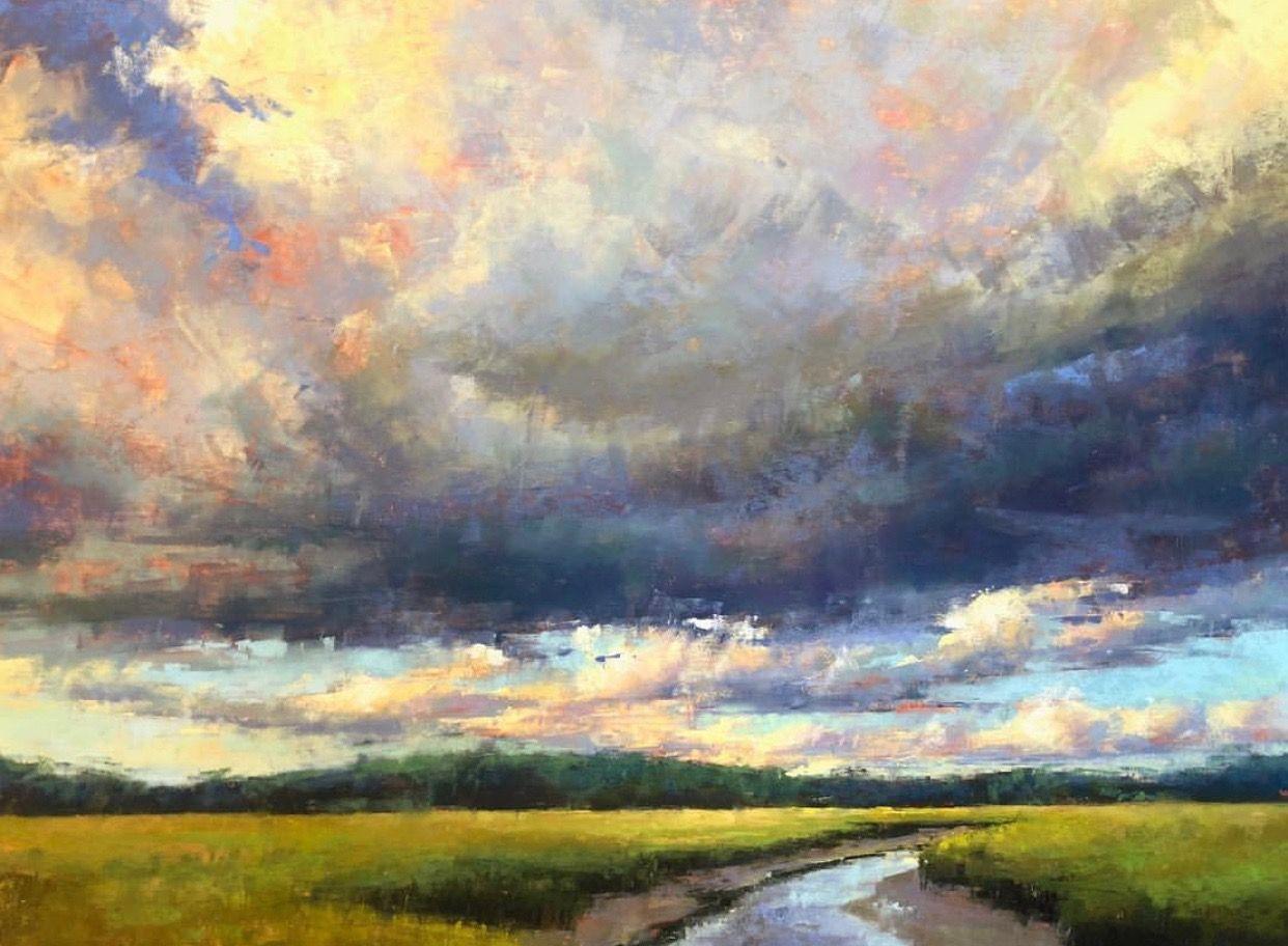 Landscape 18x24 Pastel On Uart 400 Grit Jacob Aguiar Pastel Landscape Abstract Art Landscape Oil Painting Landscape