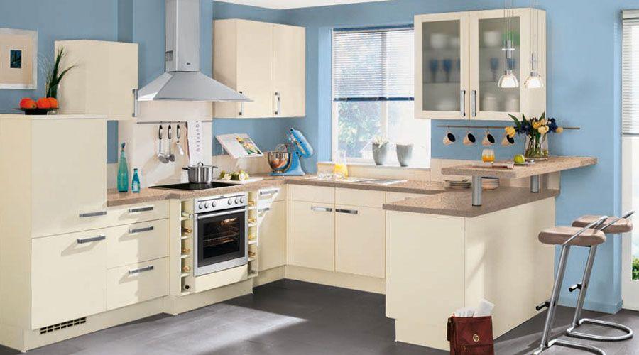 Fronten mit vanillefarbiger Kunststofffront wwwkuechen-meyerde - häcker küchen münchen