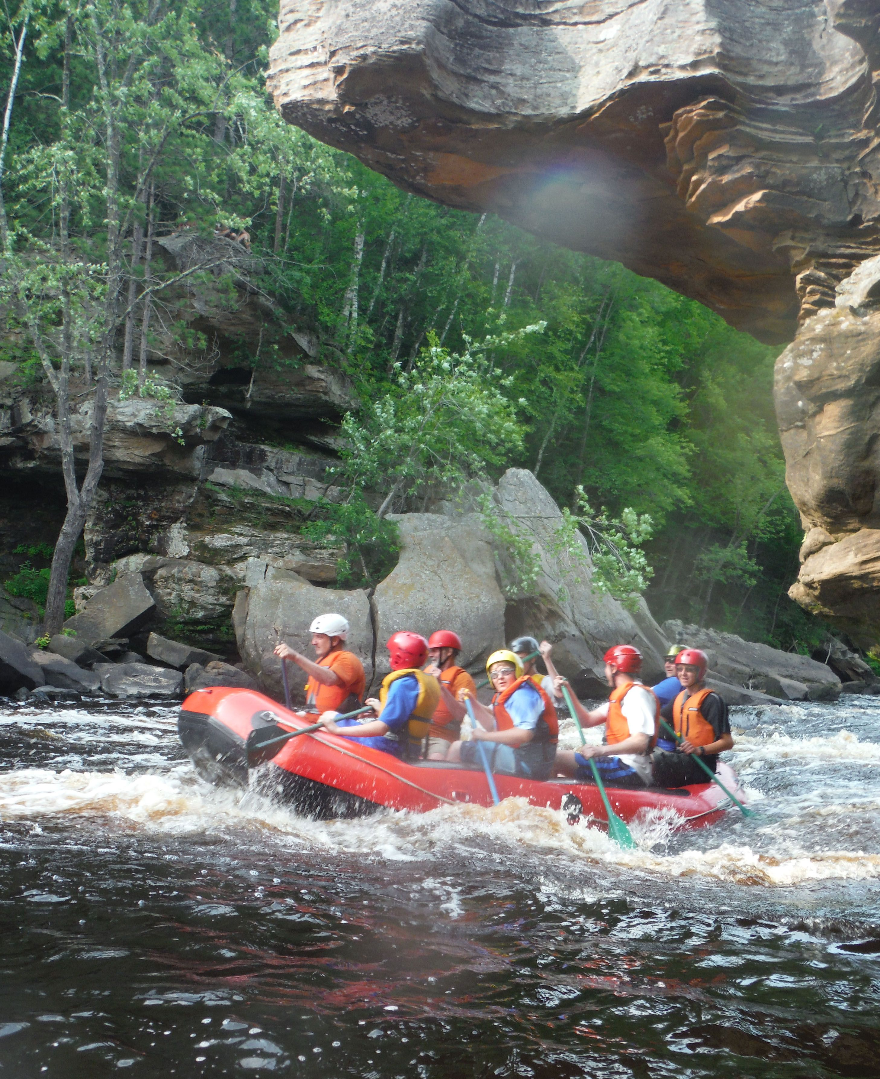 Rafting near Minneapolis Minnesota - contact MNrafting.com for a Kettle River Rafting Adventure.  The Kettle flows through Banning State Park. #mnrafting #mnfun #mnadventure
