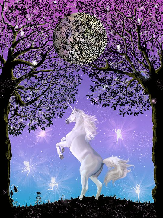 Dancing In The Moonlight Unicorn Full Moon By