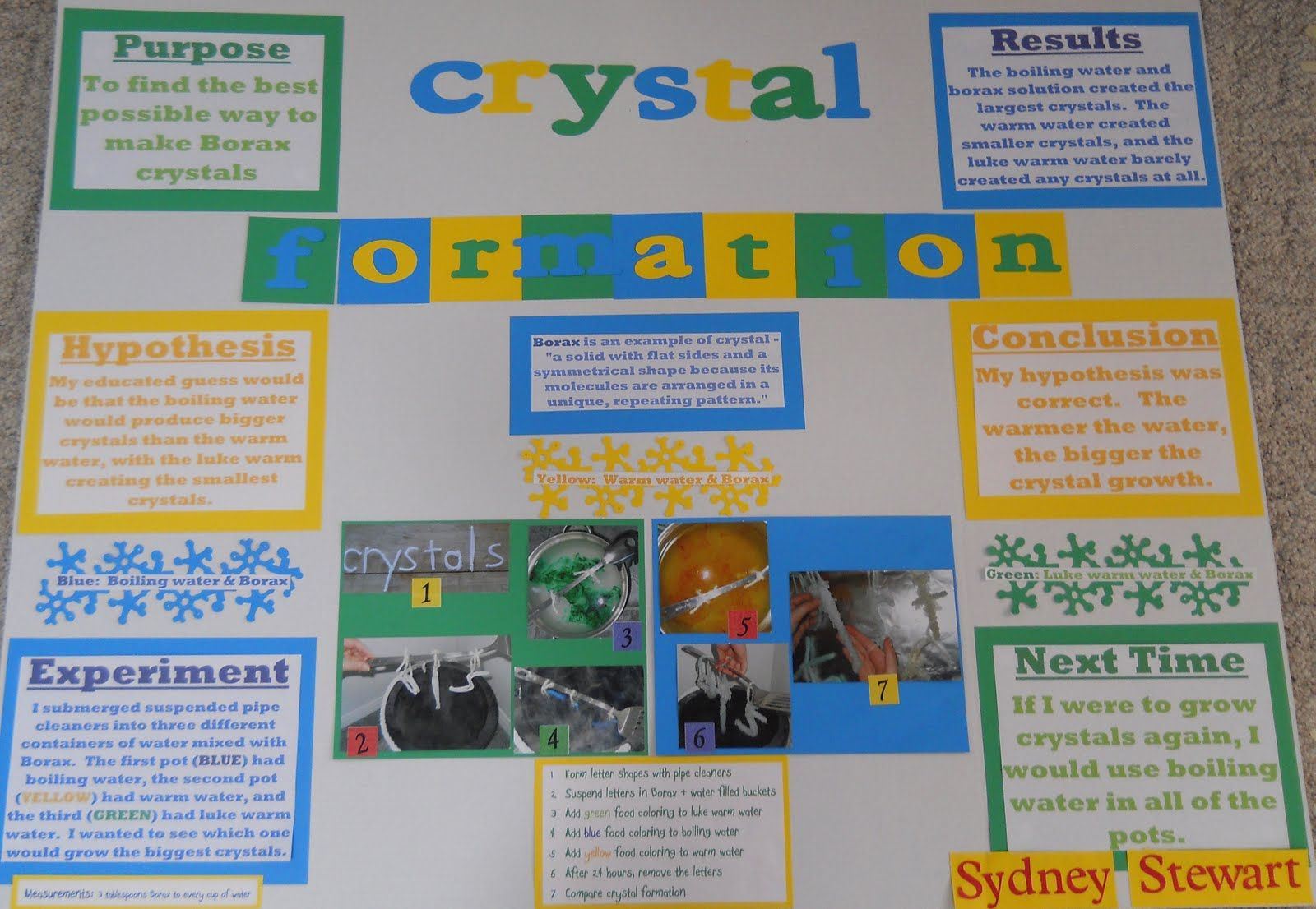 Image Result For Borax Crystals Science Project Science Fair