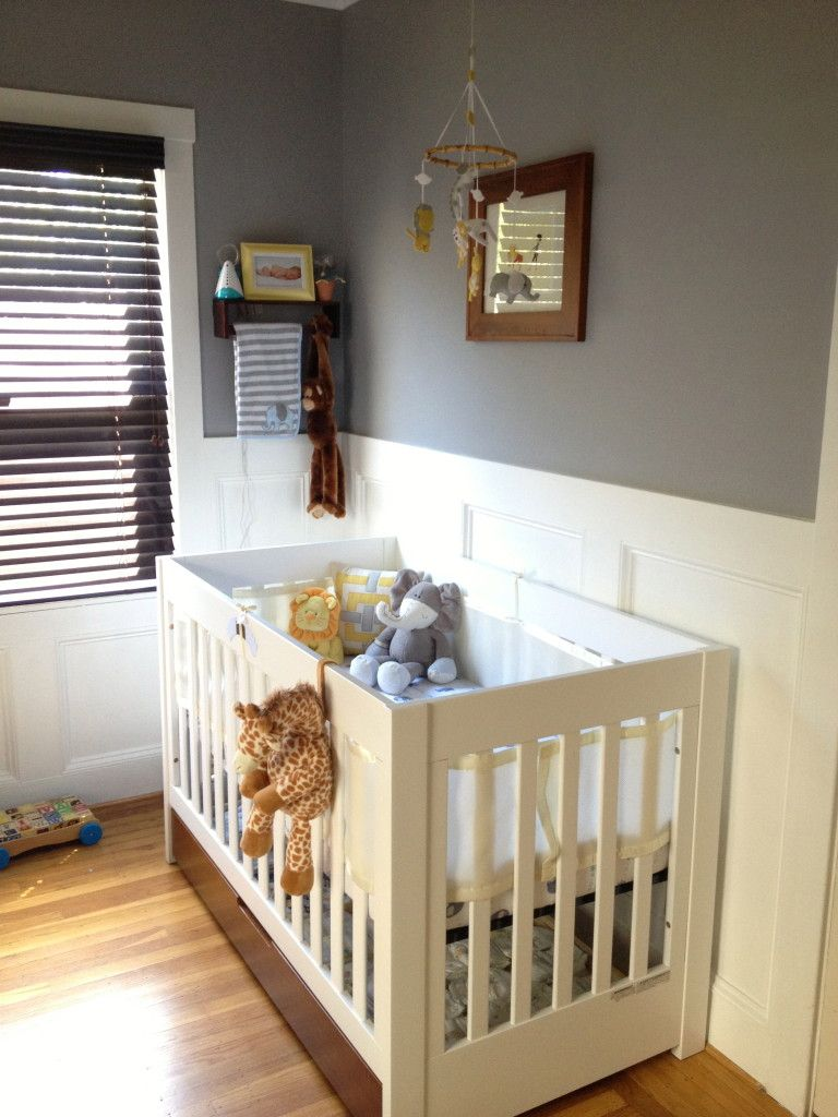 Gray Baby Boy Room Ideas: Boy Chevron Yellow And Gray Nursery Room