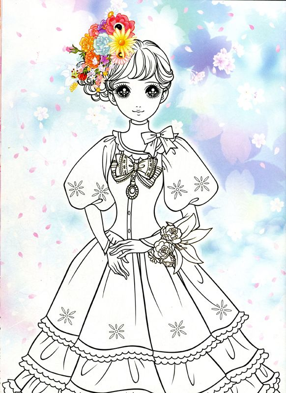 Korean coloring book pink2 mama mia picasa web - Album coloriage adulte ...
