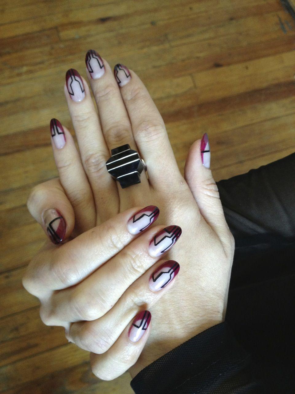 art deco nails. | Nails by Bliss. | Pinterest | Art deco nails ...