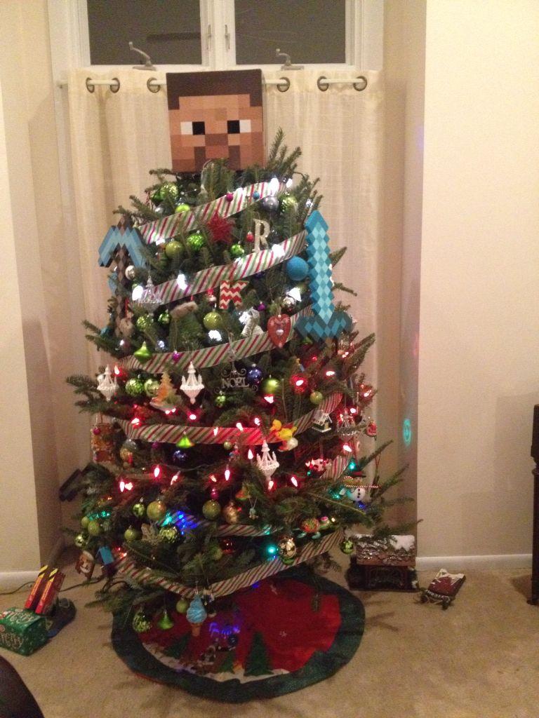 Minecraft Christmas Tree Minecraft Christmas Decor Minecraft