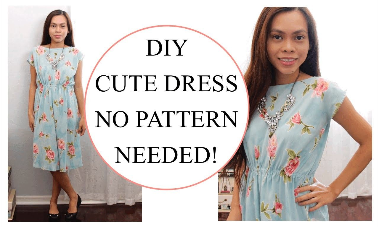 How to sew Dress without Pattern, Sewing project for
