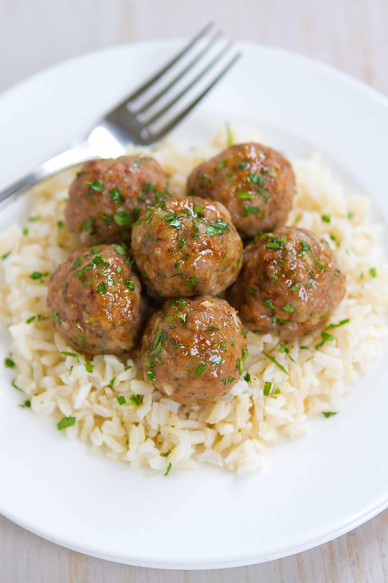 Honey Garlic Turkey Meatballs Recipe Ground Beef Recipes