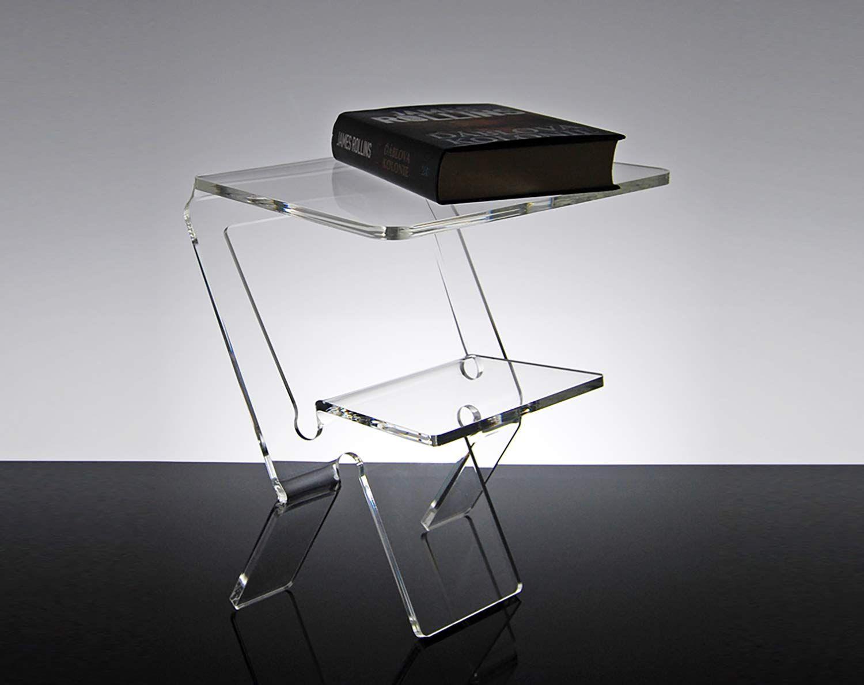 Slato Comodino Da Notte Dal Design Moderno In Plexiglass Trasparente Oniro 32 27 H 38 Cm In 2020 Side Table Home Decor Decor