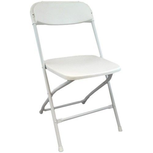 White Plastic Folding Chairs And Foldable Chairs At CTC Event Furniture.  Contact Us Today For Low Prices And Friendly Service!