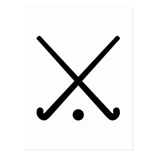 Crossed Field Hockey Clubs Postcard Zazzle Com Field Hockey Hockey Tattoo Field Hockey Sticks