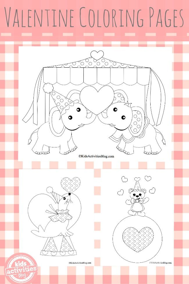 3 {Precious} Valentines Coloring Pages | Coloring | Imprimibles ...