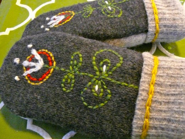 Mittens!  The Painted Acorn: For the Love of Wool