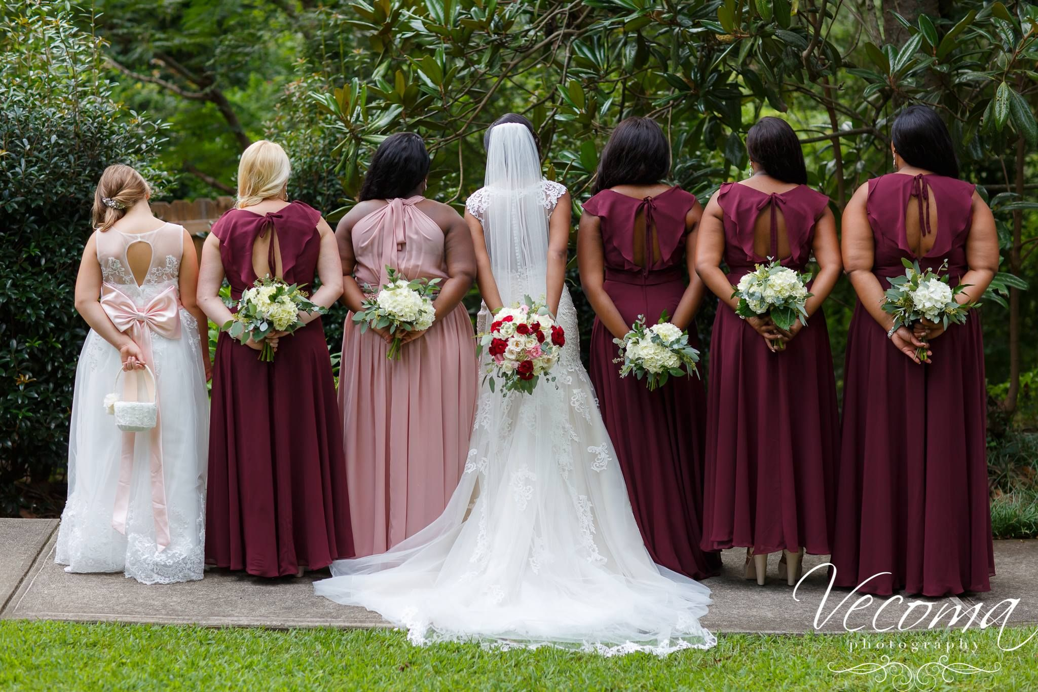 Congratulations Claudia Jamar Bridesmaid Dresses Burgundy
