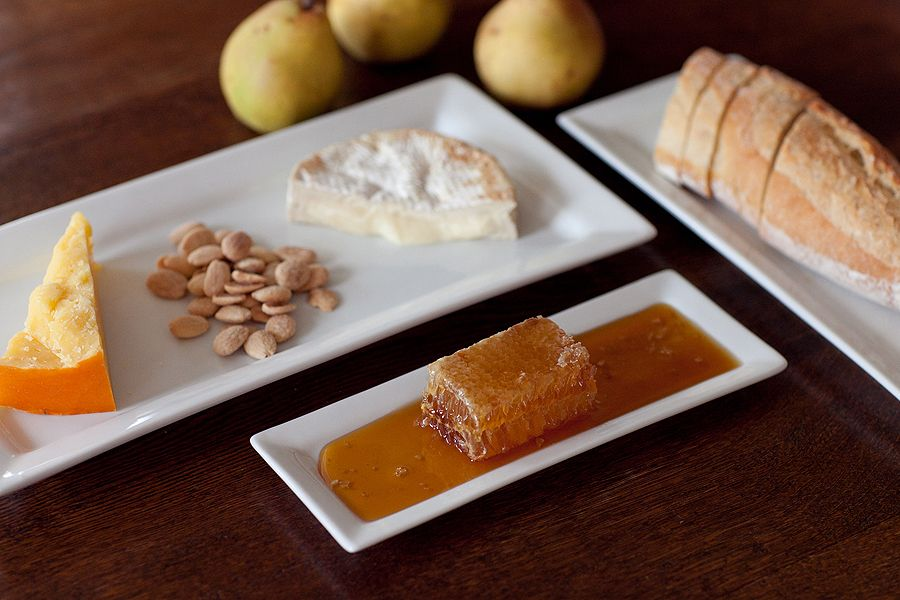 Honeycomb And Cheese Plate Cheese Course Honey Breakfast Seasonal Recipes